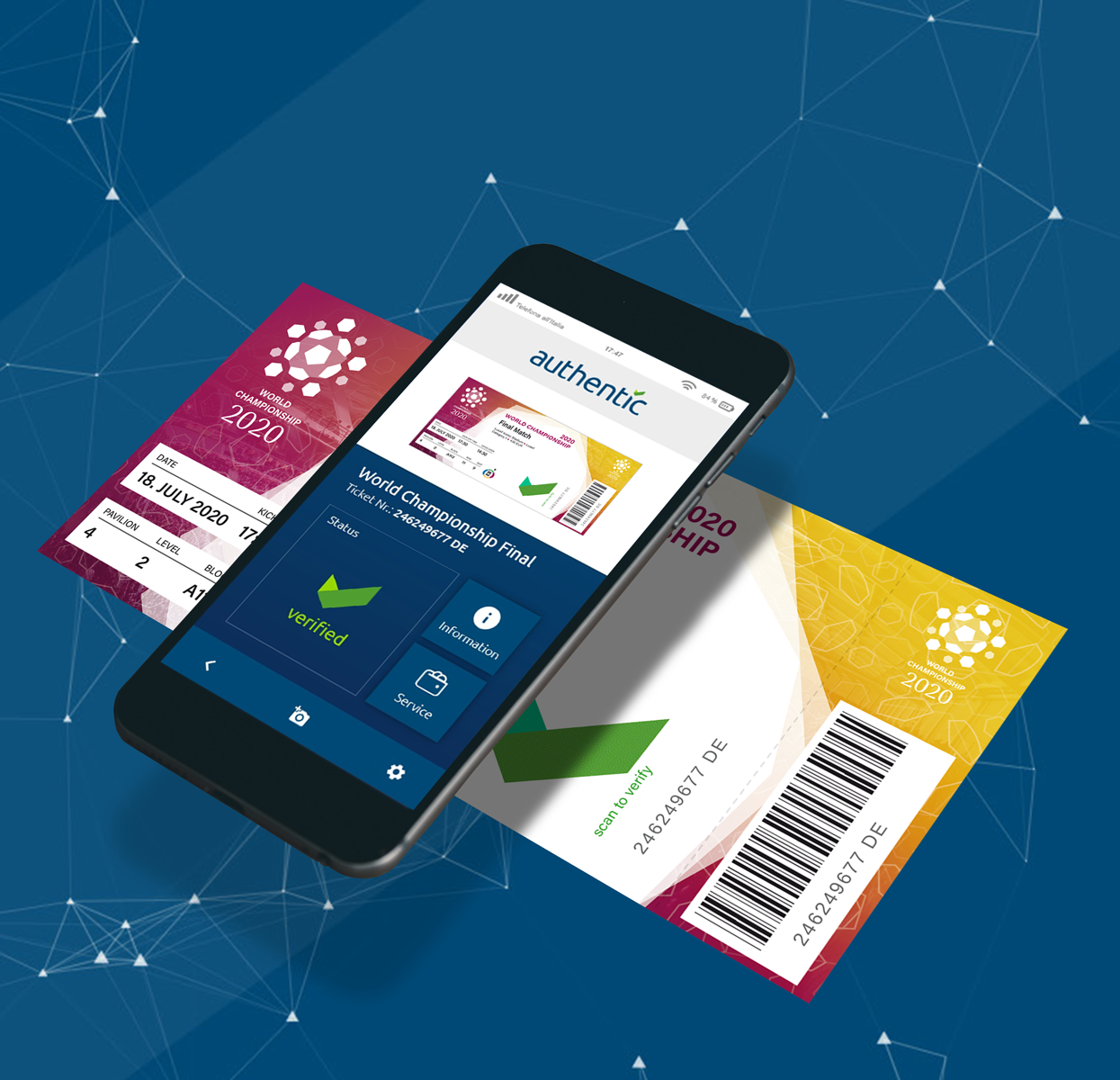 Use Case: Verifying Tickets with our authentic.Key and add additional services